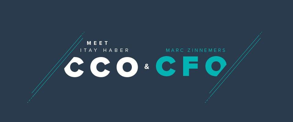 Itay Haber (CCO) en Marc Zinnemers (CFO) maken managementteam compleet
