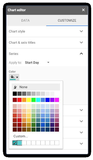 Excel Gantt Chart stap 7