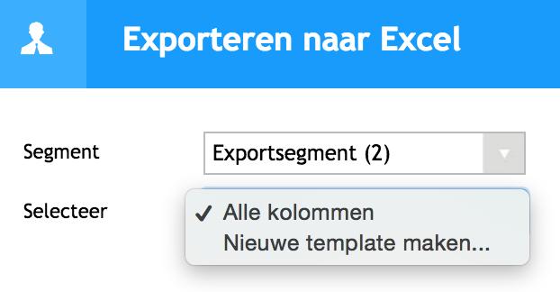 Exporteren naar excel