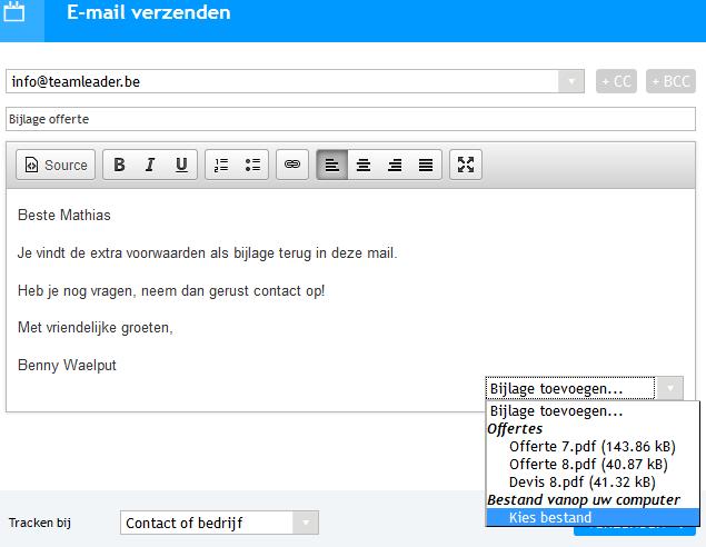Bijlagen mailen