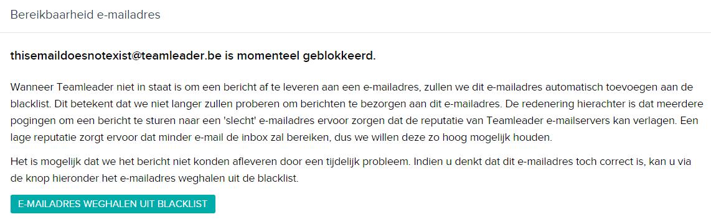 Geblokkeerd e-mailadres
