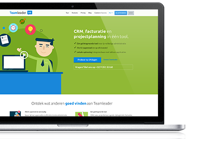 Teamleader nieuwe website