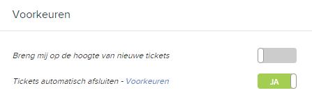 Voorkeur tickets